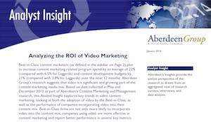 The ROI of video marketing