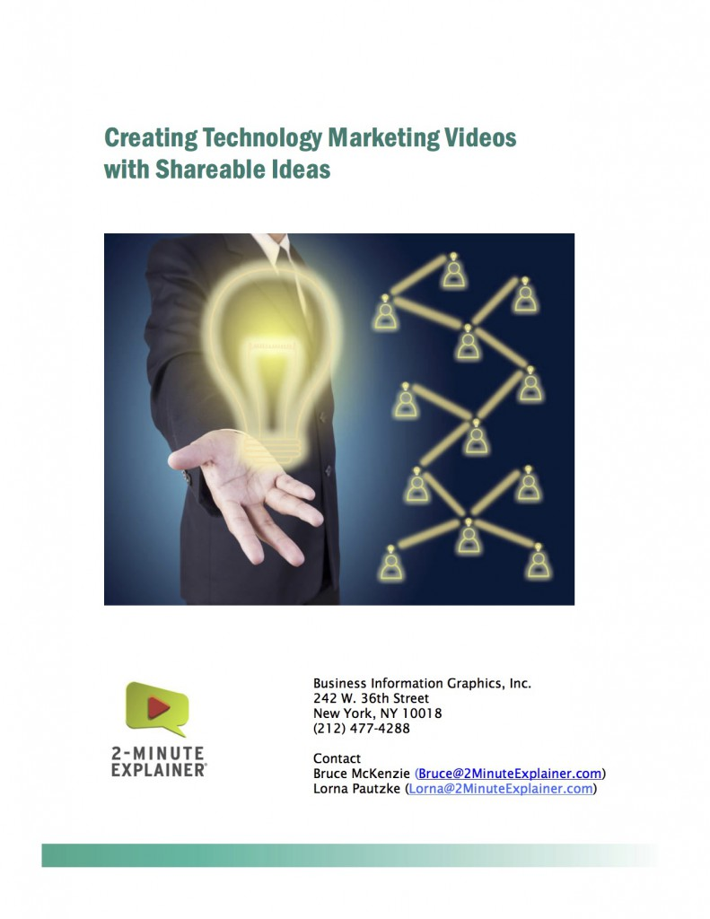 Creating Technology marketing videos with shareable ideas
