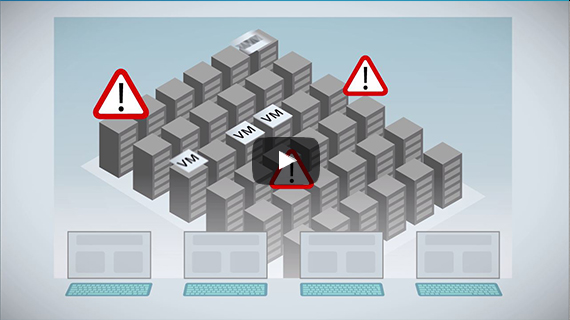 link to explainer video about analytics solution to virtual infrastructure control